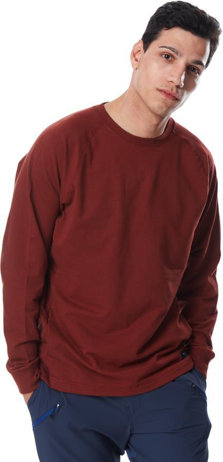 Black Diamond Ridge Logo Crew Men's Long Sleeve T-shirt XL Red Oxide