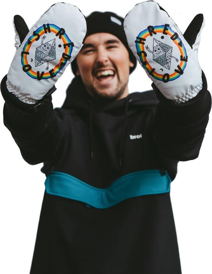 bro! Shred Love Ski/Snowboard Mittens, M/L