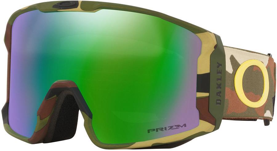 Oakley Line Miner XL Prizm Jade Snowboard/Ski Goggles, L Camo Greens