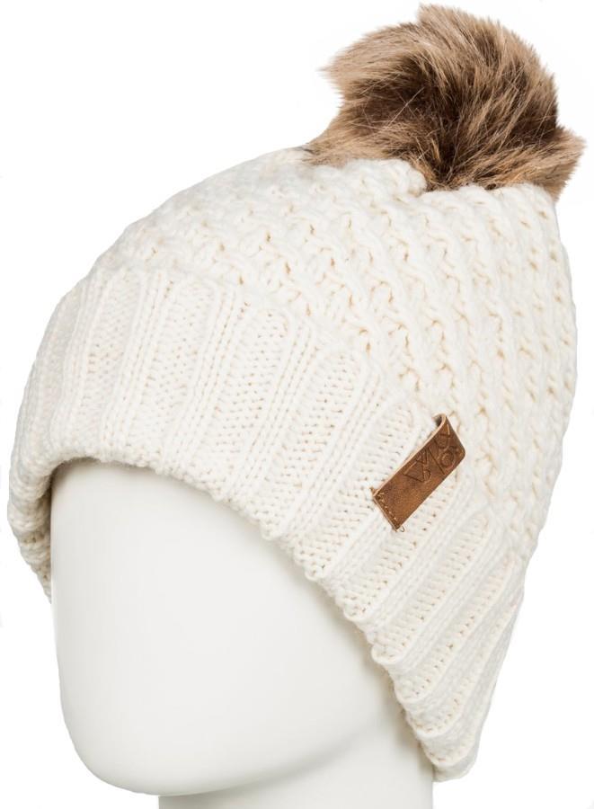 Roxy Blizzard Pom Pom Beanie Women's Bobble Knit Hat, Angora