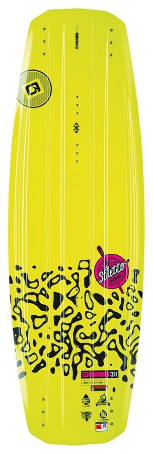 O'Brien Stiletto Ladies Park Wakeboard, 140 Yellow Pink