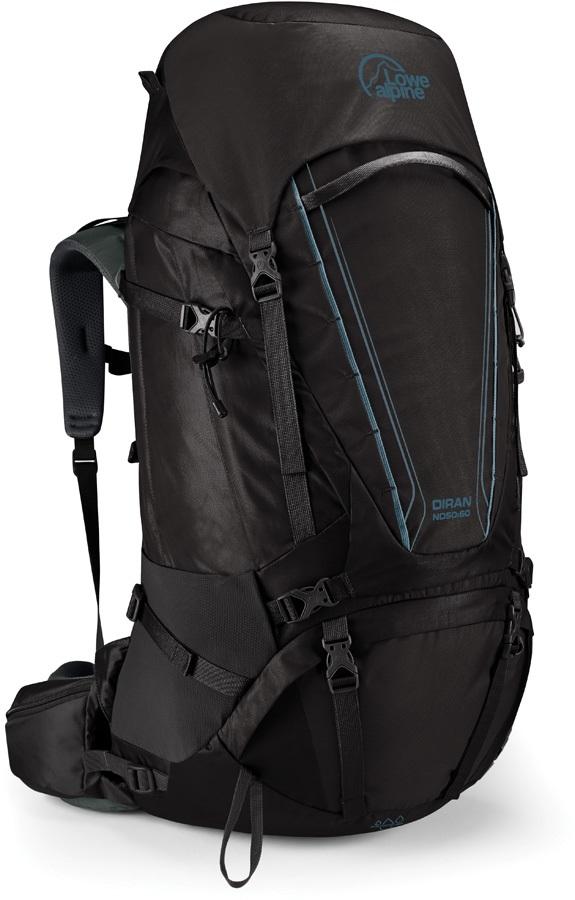 Lowe Alpine Diran ND 50:60 Trekking Backpack, 60L Anthracite