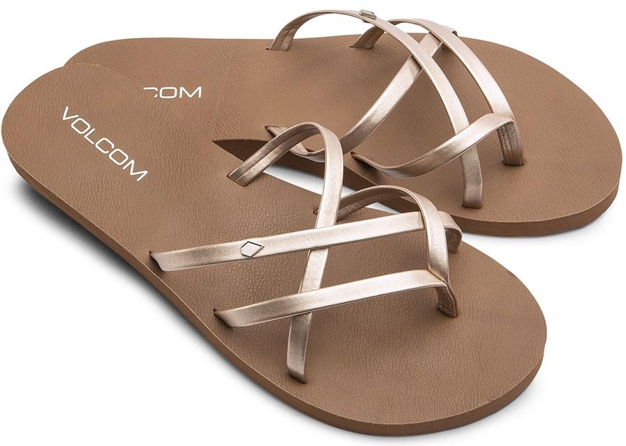 Volcom Womens New School Ii Women's Sandals, Uk 5 Rose Gold