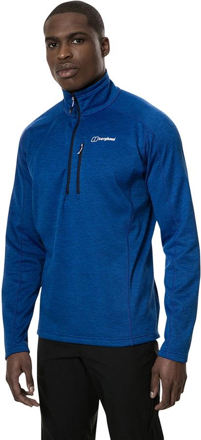 Berghaus Spitzer Half-Zip Marl Fleece Pullover, S Sodalite Blue