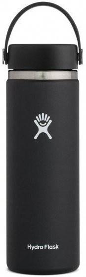 Hydro Flask 20oz Wide Mouth With Flex Cap 2.0 Water Bottle, Black