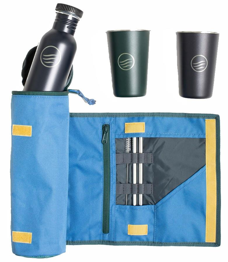 United By Blue Drink Kit Eco-Friendly Drinkware Pack, Blue Slate