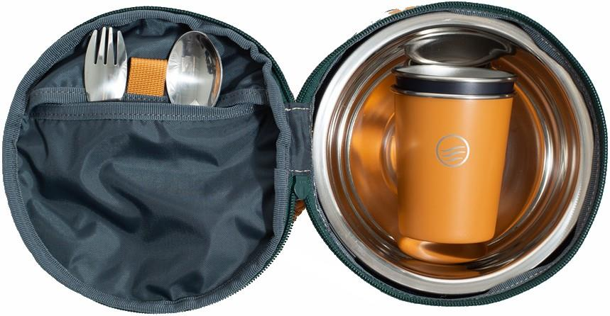 United By Blue The Meal Kit Eco-Friendly Travel Tableware, Os Tawny