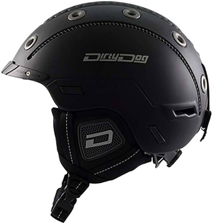 Dirty Dog Saturn Ski/Snowboard Helmet, XL Matte-Black
