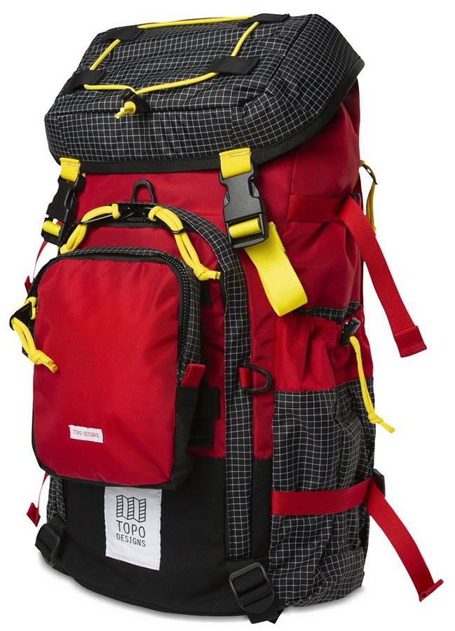 Topo Designs Subalpine Pack Hiking Backpack, 35L, Red