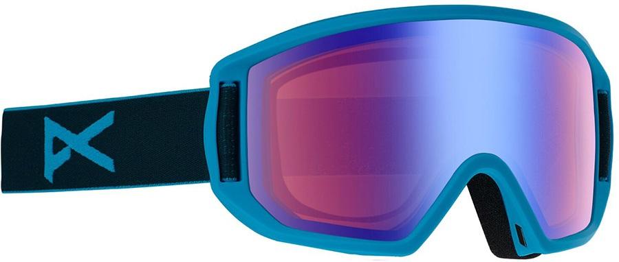 Anon Relapse Jr MFI Blue Amber Ski/Snowboard Goggles, S/M Blue