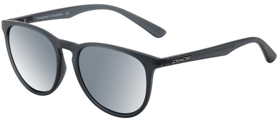 Dirty Dog Void Silver Mirror Women's Polarized Sunglasses, Satin Black