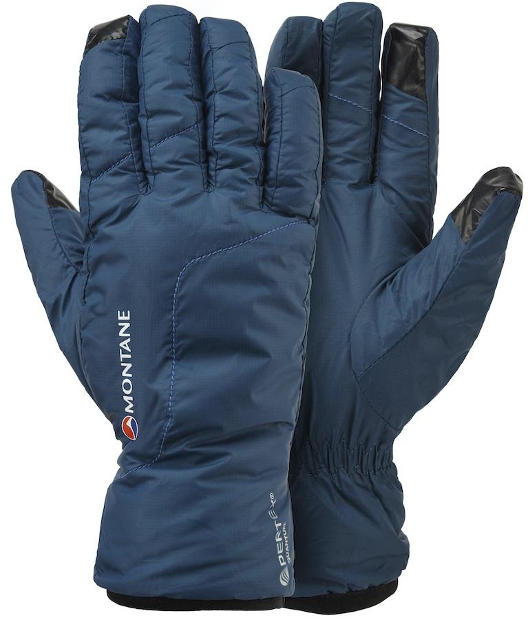 Montane Prism Fleece Lined Women's Windproof Glove, XS Narwhal Blue