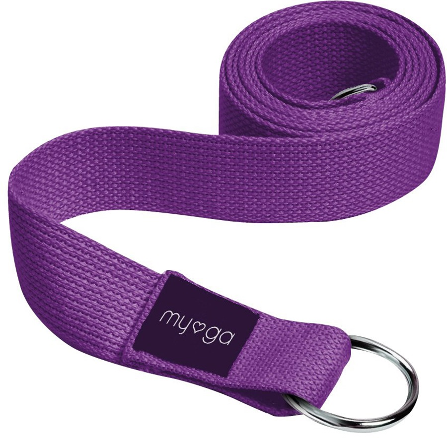 Myga Back To Basics 2-in-1 Yoga/Pilates Belt & Sling, Plum