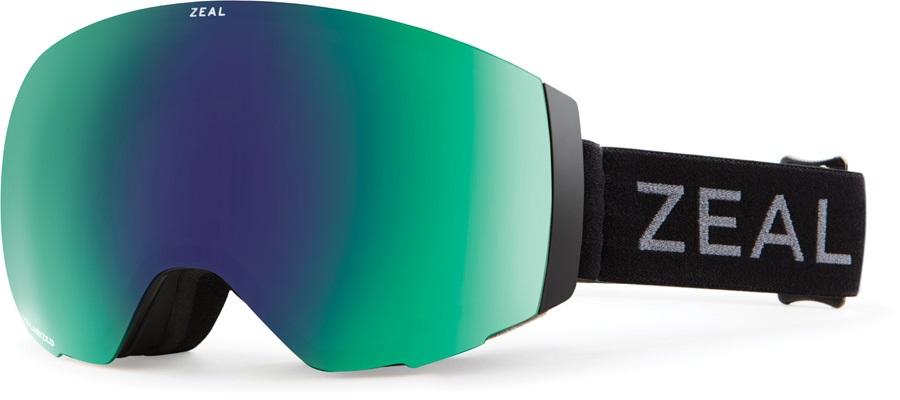 Zeal Portal Polarized Jade Snowboard/Ski Goggles, M White Out