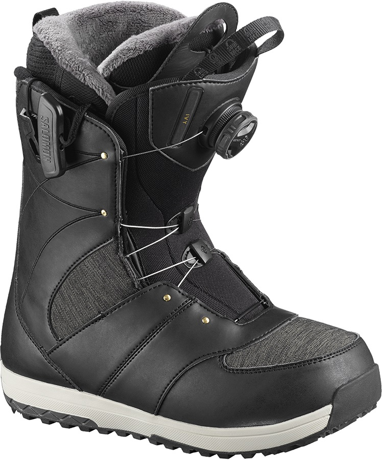 Salomon Ivy BOA SJ Women's Snowboard Boots, UK 5 Black 2019