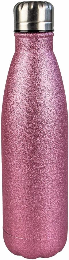 Myga Stainless Steel Water Bottle, 500ml Glitter Pink