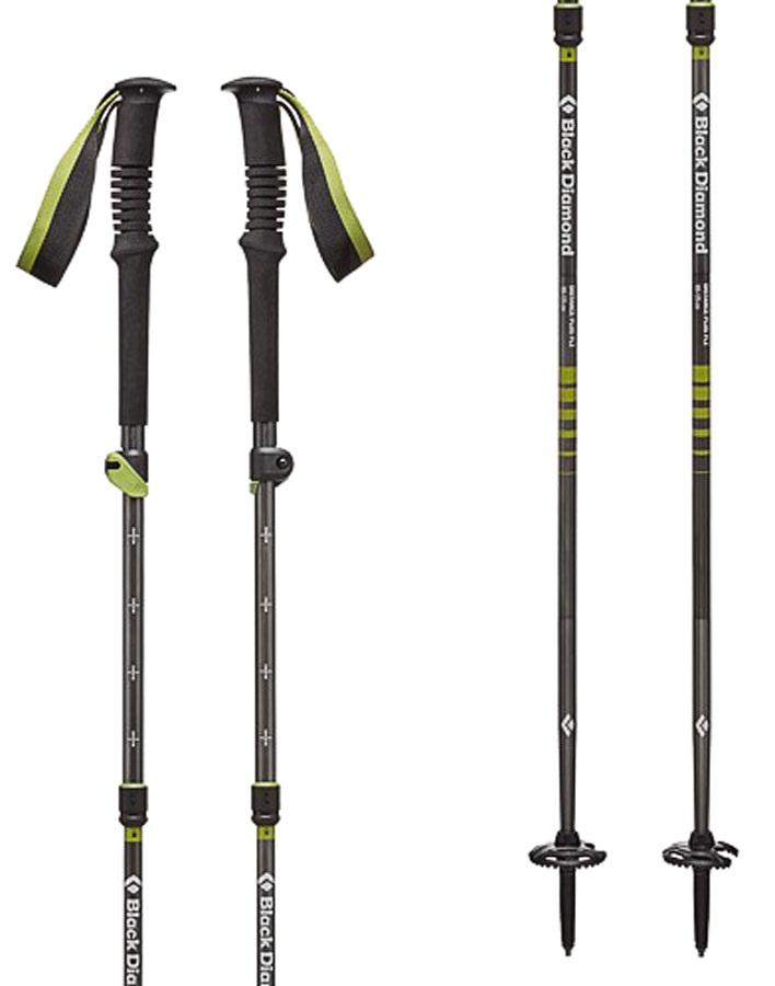Black Diamond Distance Plus FLZ Folding Trekking Poles, 105-125cm