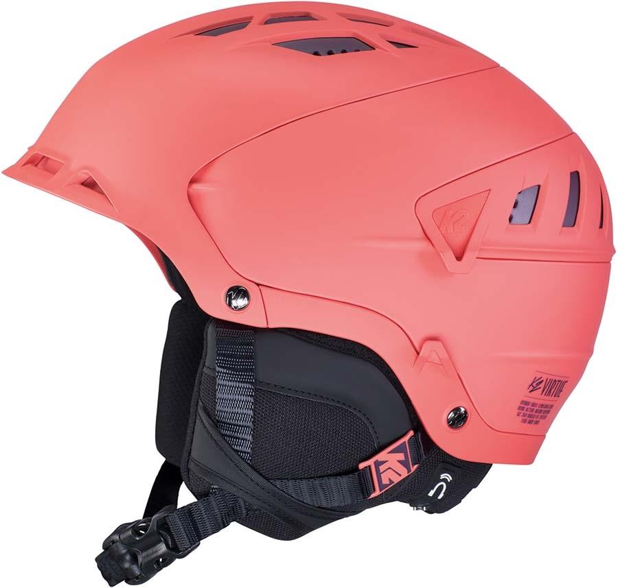 K2 Virtue Women's Snow/Bike Helmet, S Coral