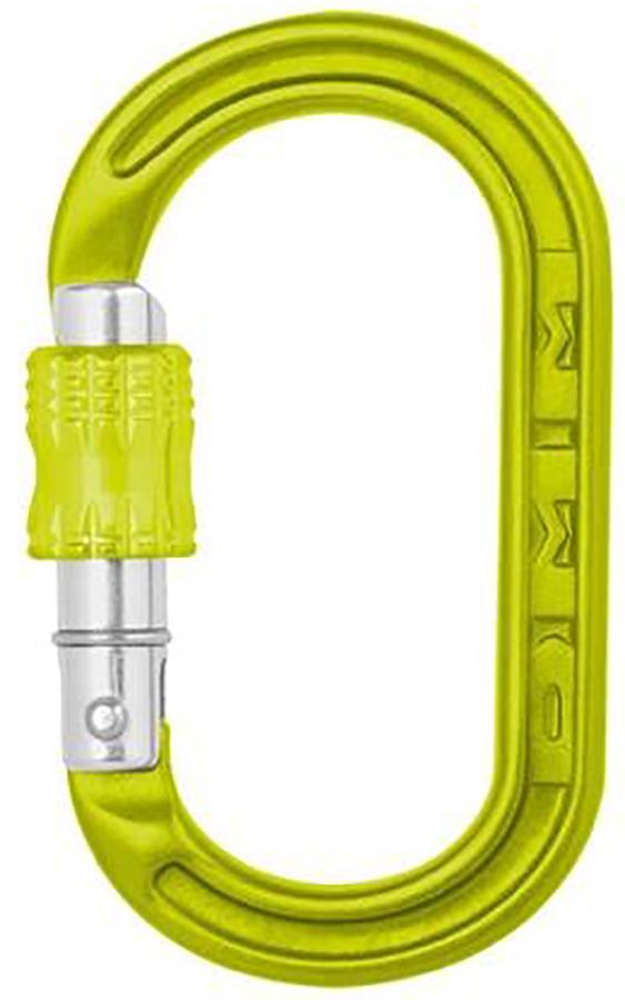 DMM XSRE Lock Screwgate Rock Climbing Carabiner, 35 x 57mm Lime