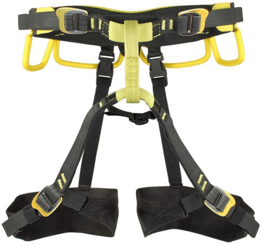 Grivel Adult Unisex Poseidon Climbing Harness, 67-87cm Black/Yellow