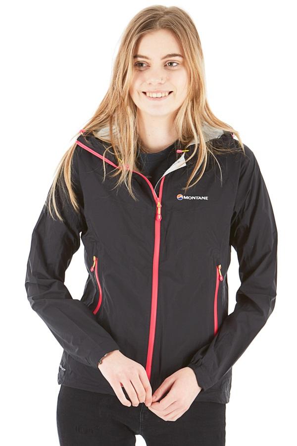 Montane Minimus Stretch Ultra Women's Waterproof Jacket, UK8 Black