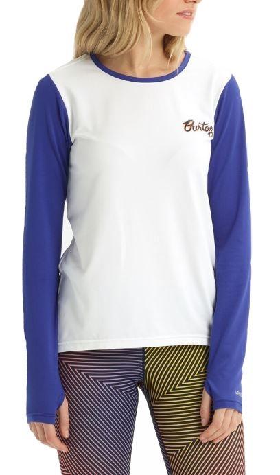 Burton Tech Tee Women's Thermal Long Sleeve Top, XXS Stout White