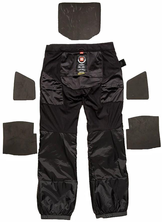 686 Progression Padded Waterproof Snowboard/Ski Pants, XS Black