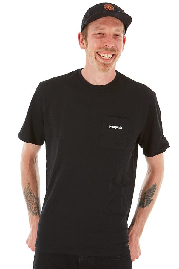 Patagonia Adult Unisex P-6 Logo Pocket Responsibili-Tee T-Shirt, M All Black