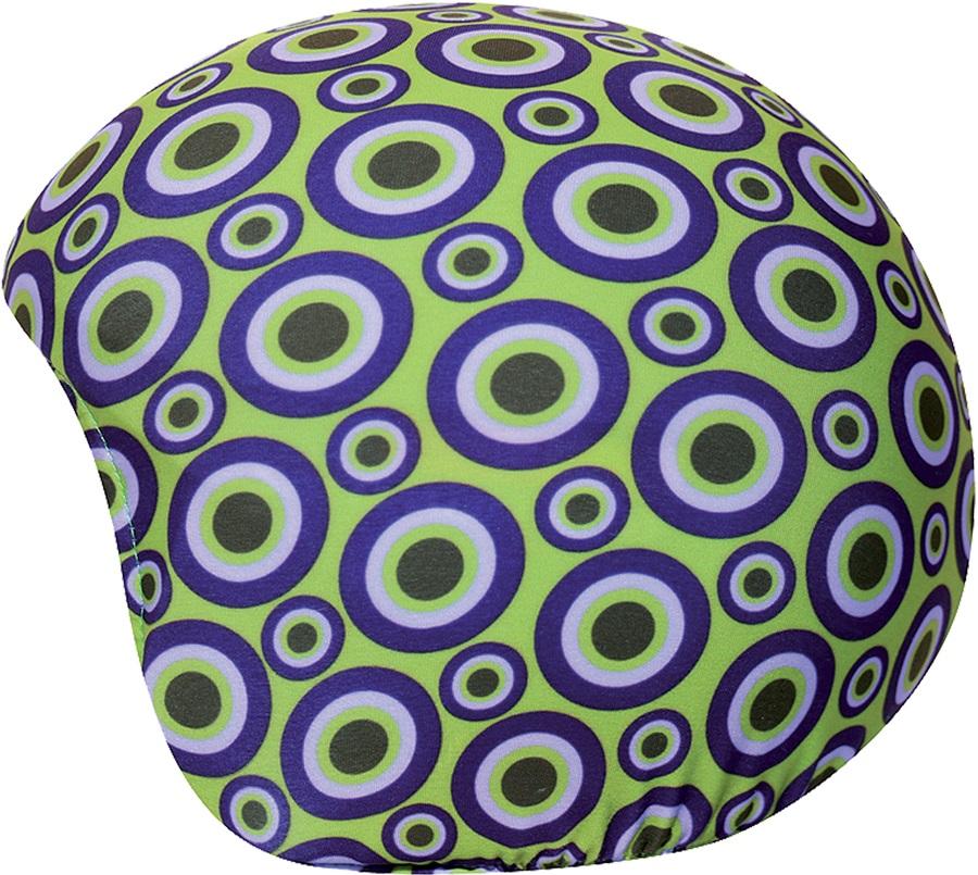 Coolcasc Printed Cool Ski/Snowboard Helmet Cover, Green Geometric