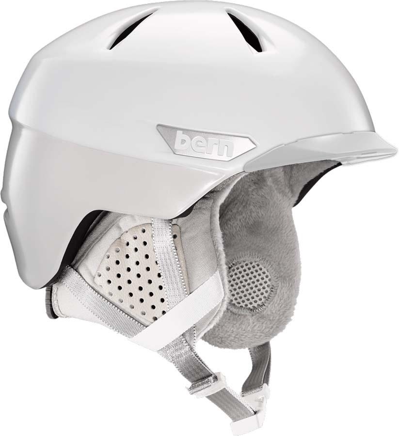 Bern Weston Peak MIPS Ski/Snowboard Helmet, S Satin White Two-Tone