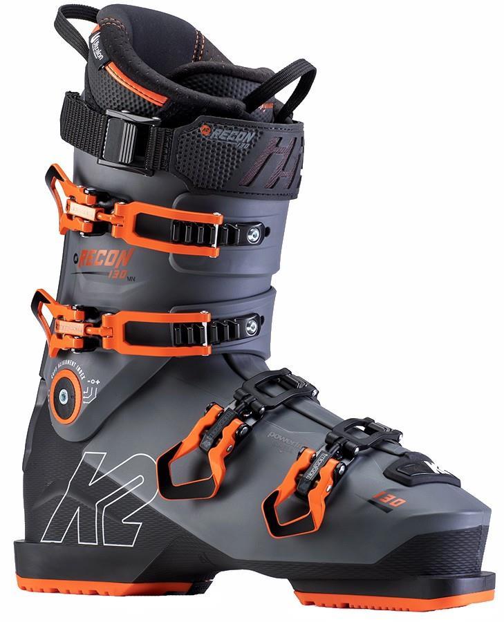 K2 Mens Recon 130 Mv Ski Boot, 25.0/25.5 Grey/Orange