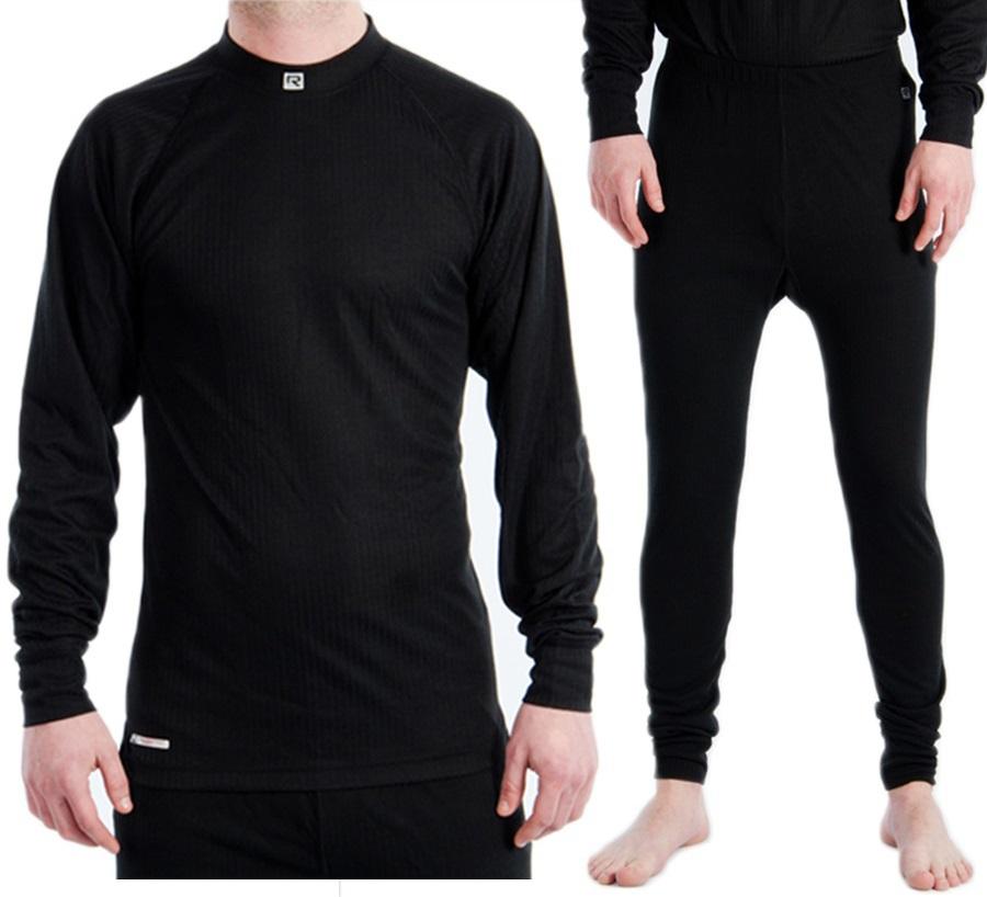 Rucanor Montana Thermal Underwear Set Men's S | Wms 12 Black