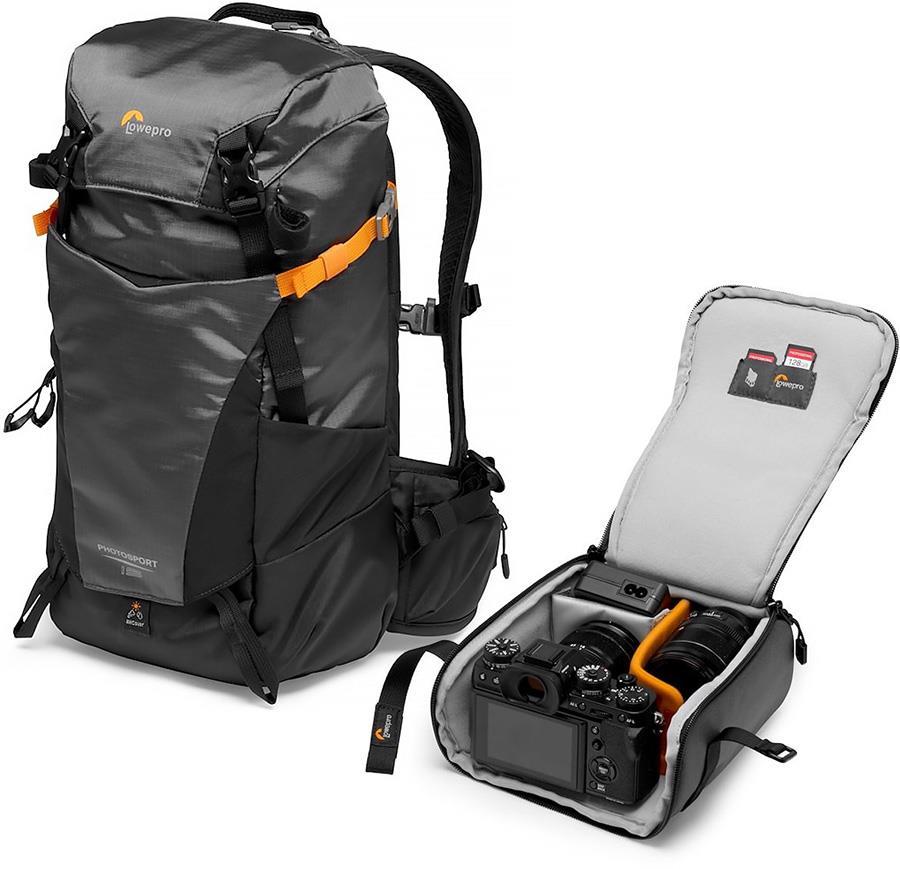 Lowepro PhotoSport BP AW III Hiking Camera Backpack, 15L Grey