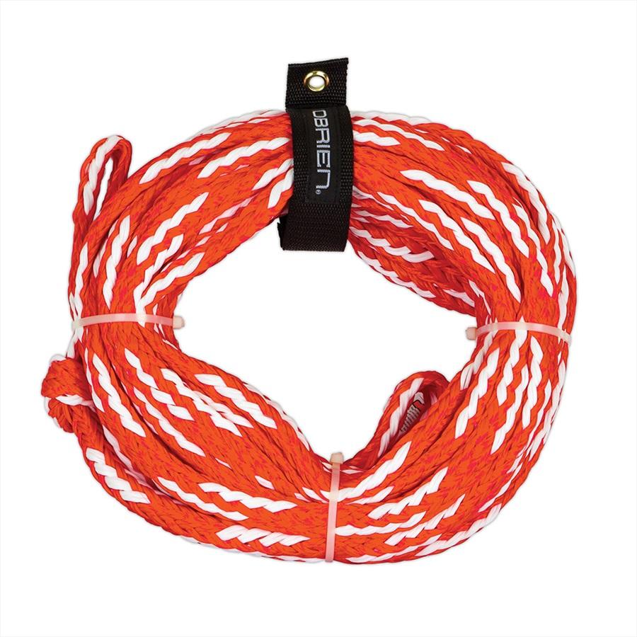 O'Brien Heavy Duty Towable Tube Rope, For 2 Rider Tubes Orange