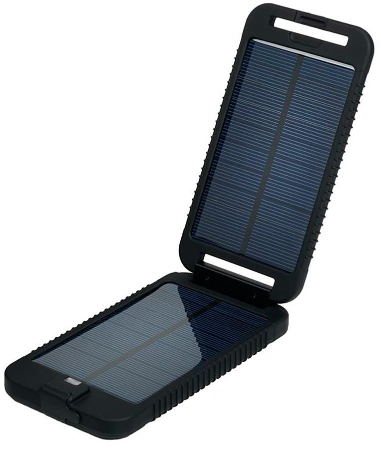 PowerTraveller Solar Adventurer Solar Charger & Battery Pack, Black