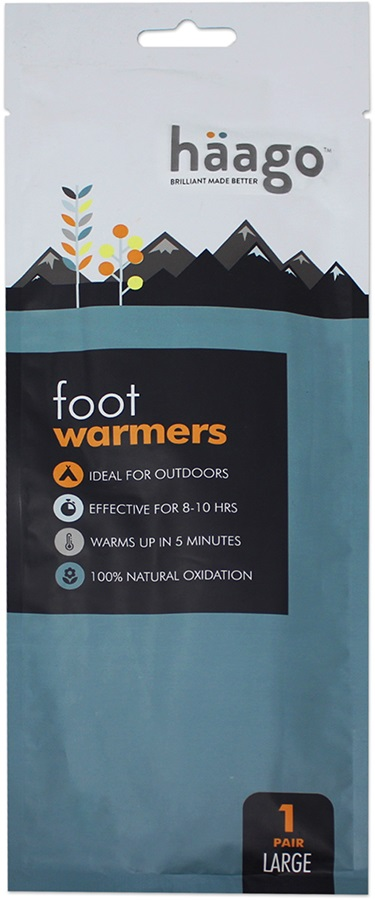 Haago Disposable Recyclable Foot Warmer Insoles, S