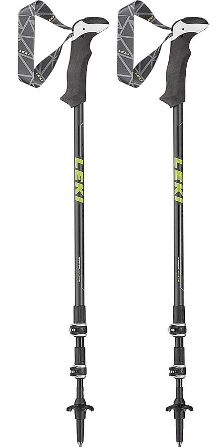 Leki Makalu Lite Adjustable Trekking Poles, 100-135cm Black