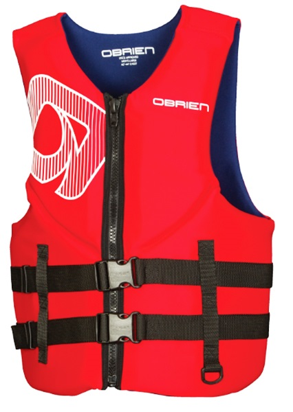 O'Brien Traditional Watersports Impact Buoyancy Aid, 2XL Red Blue
