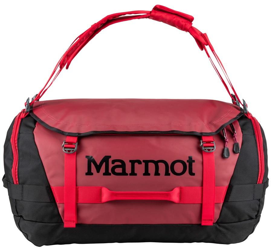 Marmot Long Hauler Duffel Travel Bag - 75L, Brick / Black