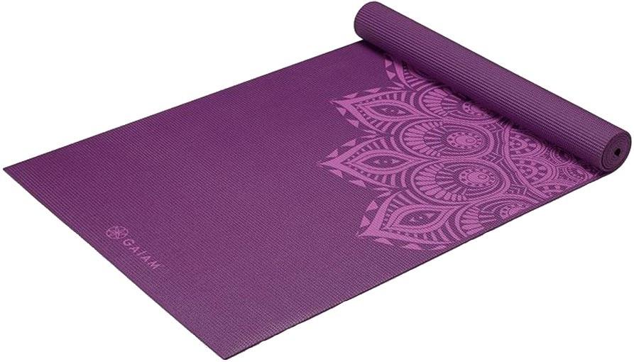 Gaiam Premium Printed Yoga/Pilates Mat, 6mm Purple Mandala