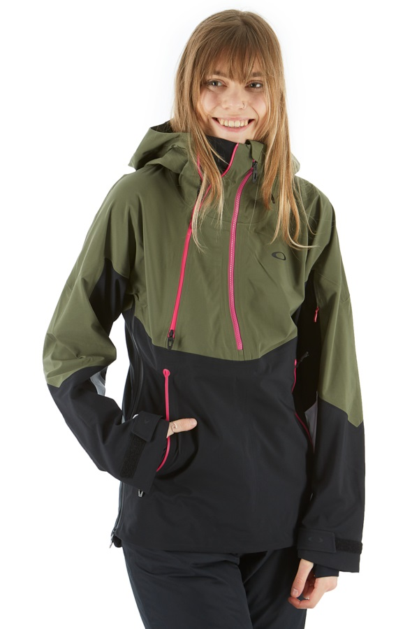 Oakley Phoenix 2.0 Shell Women's Ski/Snowboard Jacket, S Dark Brush