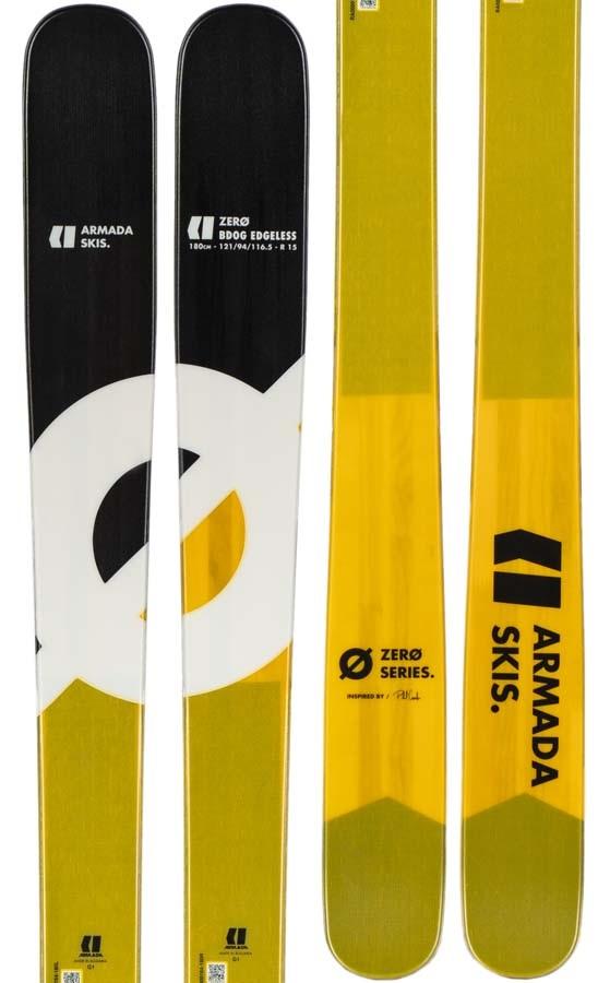 Armada Bdog Edgeless Skis, 164cm Yellow