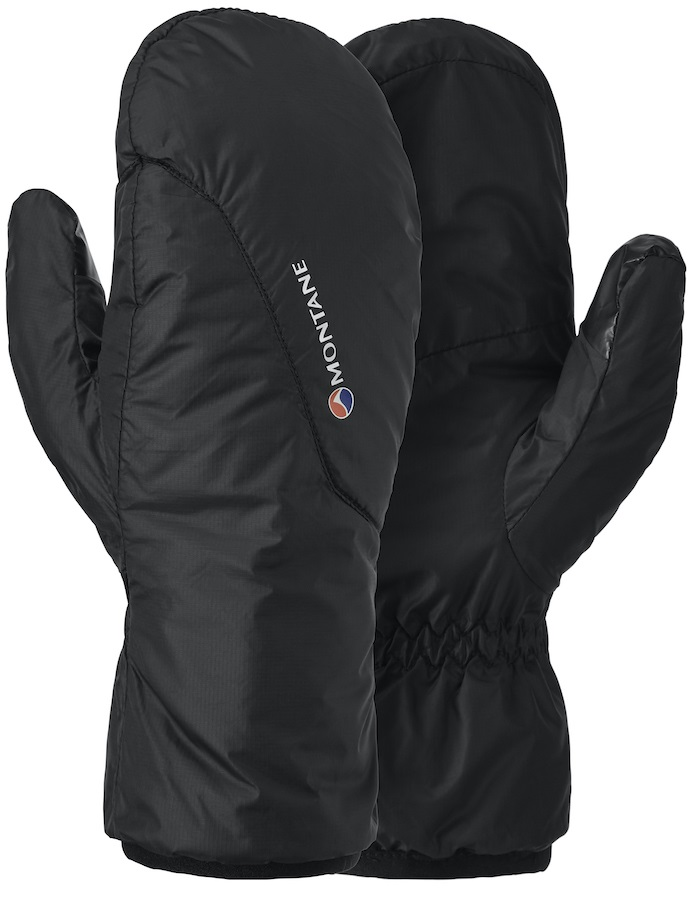 Montane Prism Mitts Insulated Packable Mittens, XS Black