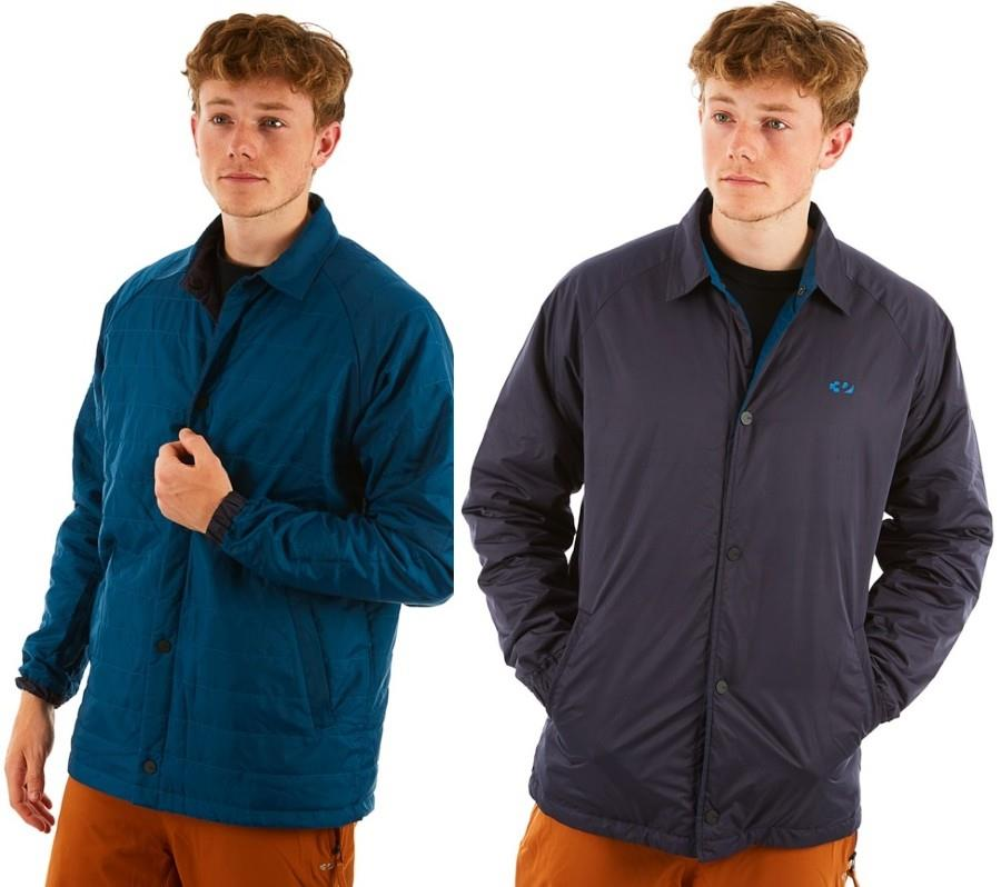 thirtytwo Explorer Reversible Insulated Snowboard Coach Jacket, L Navy
