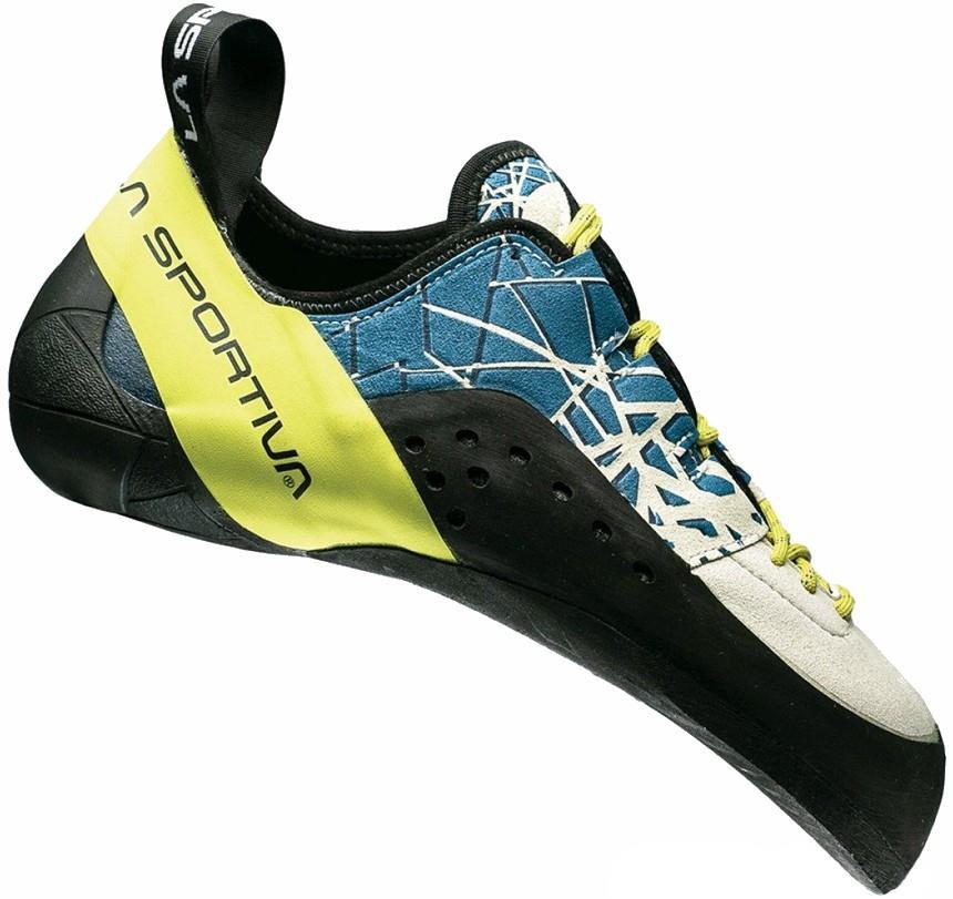 La Sportiva Kataki Rock Climbing Shoe: UK 2.5 | EU 35, Ocean & Suplhur