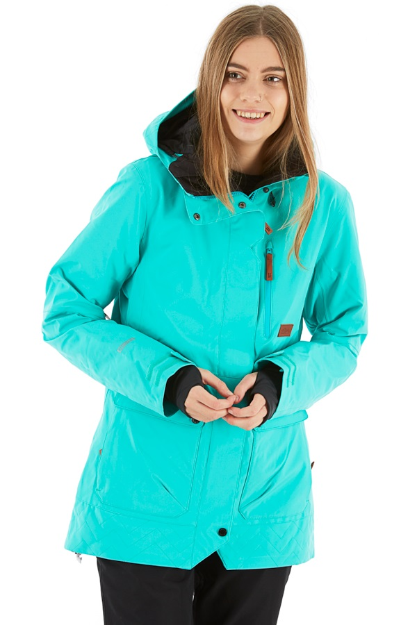 Planks All-Time Insulated Women's Ski/Snowboard Jacket, Xs Teal