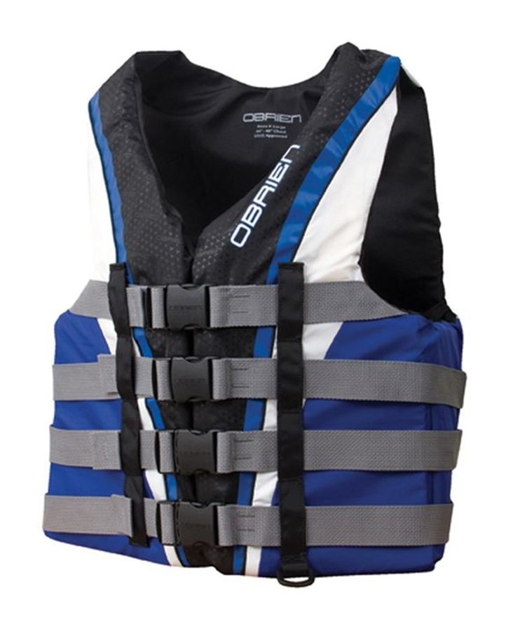 O'Brien 4 Buckle Pro Nylon CE Buoyancy Vest L Blue