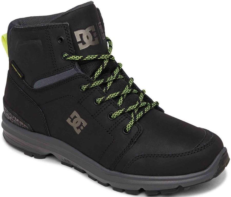 DC Adult Unisex Torstein Men's Winter Boots, Uk 8 Black/Acid