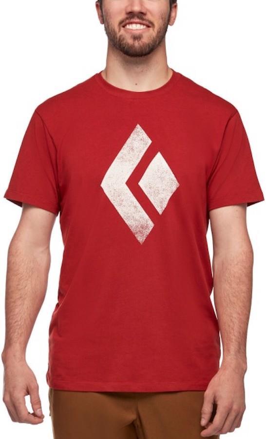 Black Diamond Chalked Up Tee Rock Climbing T-shirt, L Red Rock