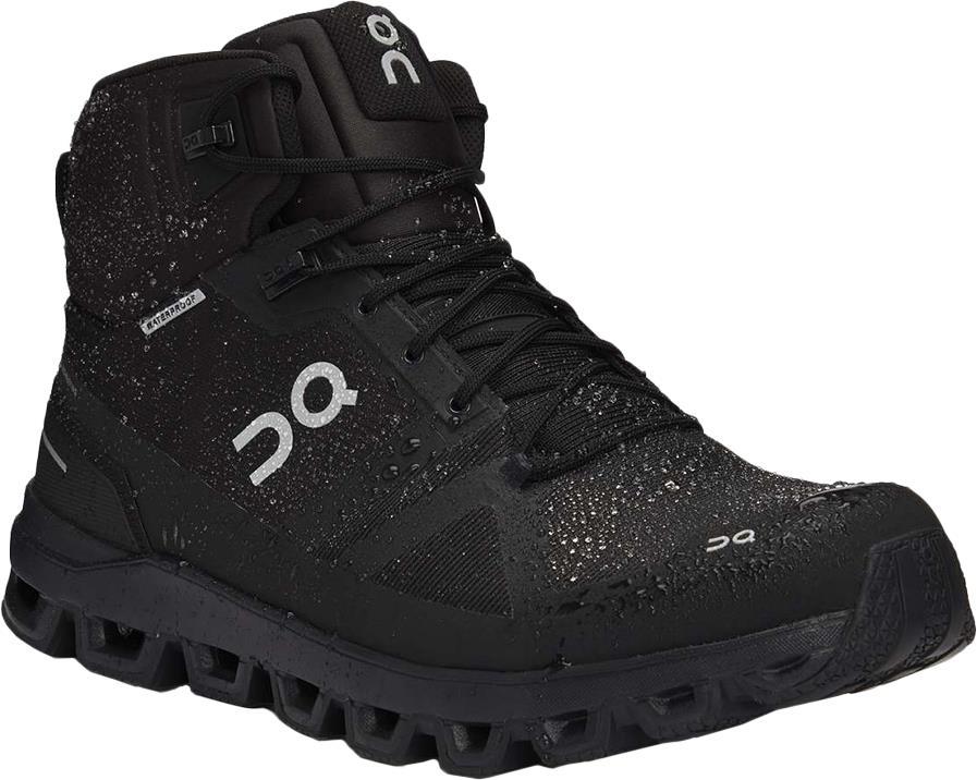 On Cloudrock Waterproof Men's Hiking Shoes, UK 7.5 Black